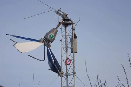 Ruined wind generator