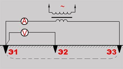 Circuit à trois points pour les mesures