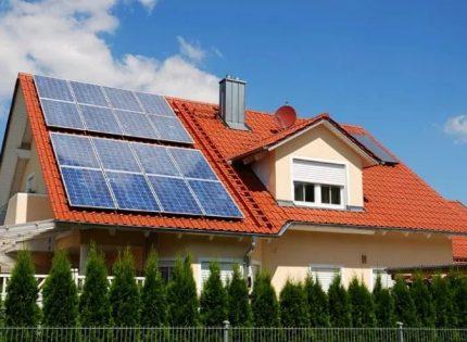 Solsystem på taket