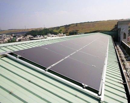Amorphous solar panels