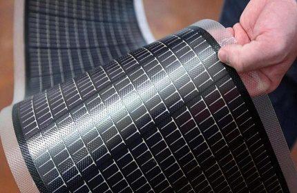 Flexible solar battery