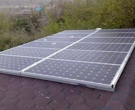 Working solar battery