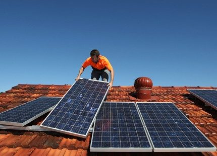 Installing a solar generator on the roof