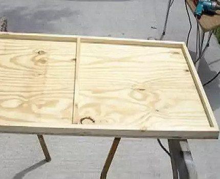 Wooden frame for photocell