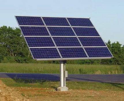 Solar panel on the track system