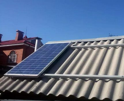Slate roof solar panel