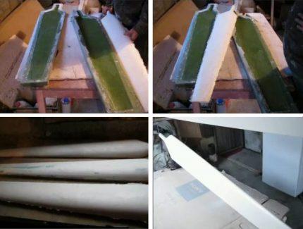 Stiklo pluošto ašmenų gamyba