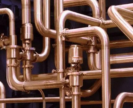 Copper pipe heating system