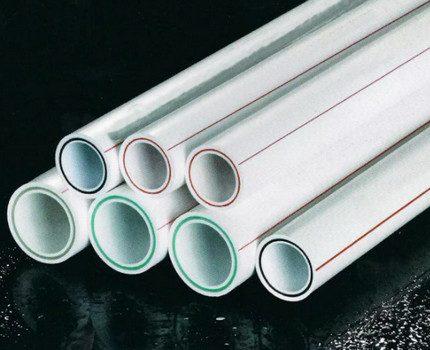 Glass fiber reinforced polypropylene pipes