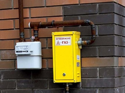 Gas supply system of a private low-rise building