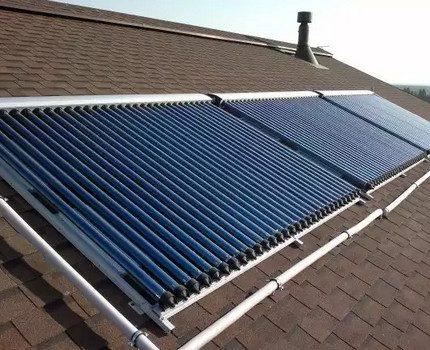 Roof Vacuum Solar Collector