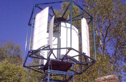 Vertikalus vėjo generatorius