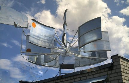Wind generator as an additional source of energy