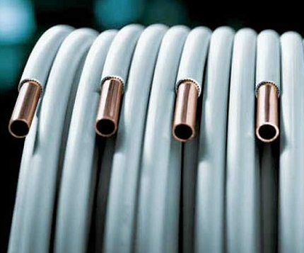 Polymer-coated copper pipe