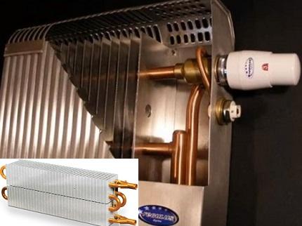 Radiateur cuivre-aluminium