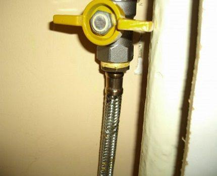 Remplacement du robinet de gaz