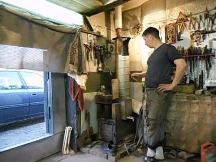 Garage heating with a miracle oven