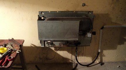 Convecteur à gaz dans le garage