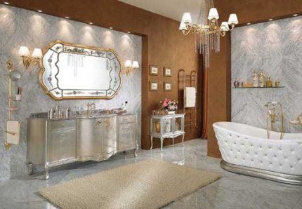 Salle de bain glamour