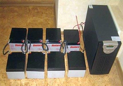 IHD avec un système de batterie externe