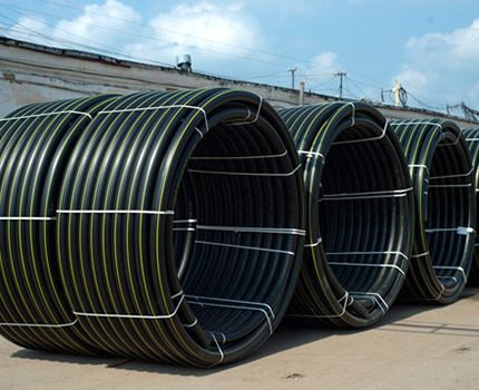 Marquage de tuyaux en polyéthylène