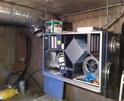 Pagraba ventilācijas iekārta