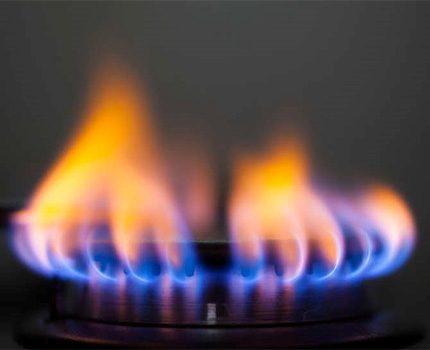 Incomplete gas burner
