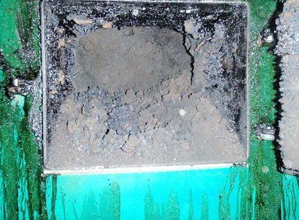 Soot in a pellet boiler