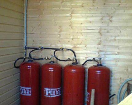 Bottled gas heating