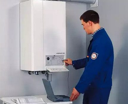 Maintenance of gas boiler automation