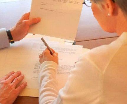 Paquet de documents requis