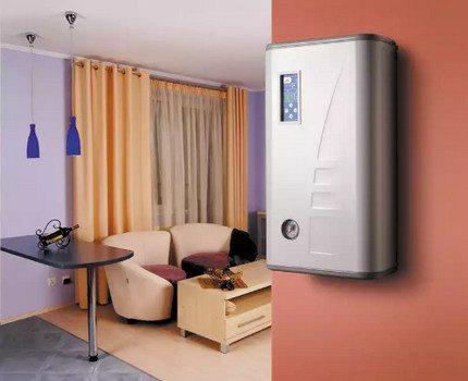 Chaudière électrique murale dans l'appartement