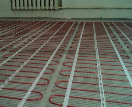 Système de chauffage au sol dans l'appartement