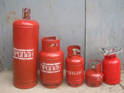 Gas cylinders for heat guns