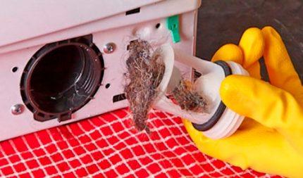 Nettoyage du filtre de lavage