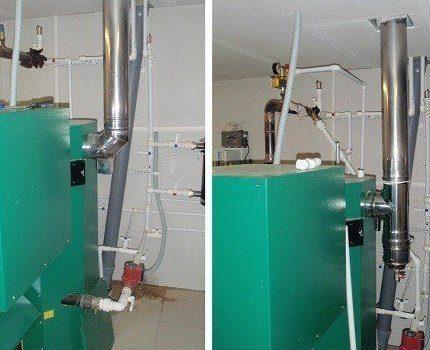 Chimneys for pellet boilers