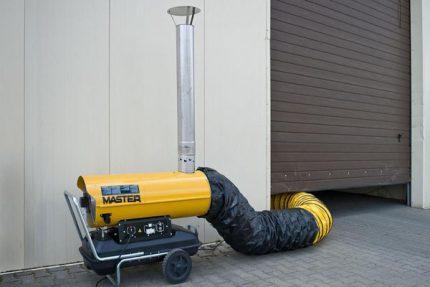 Indirect heating diesel gun