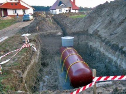 Montage d'un réservoir de gaz