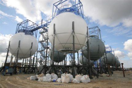 Porte-gaz de type industriel