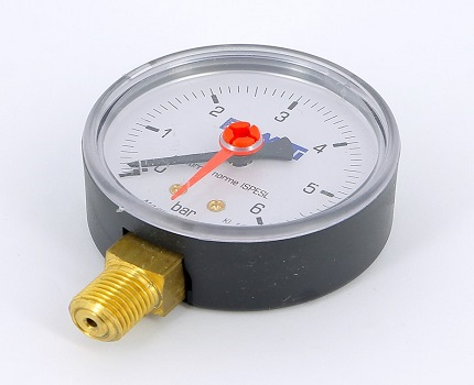 Pressure gauge with two arrows