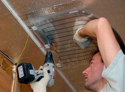 Réchauffeur de film de plafond