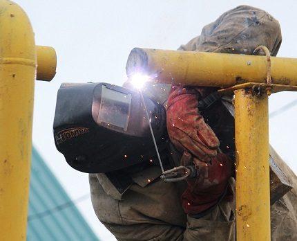 L'insertion dans le gazoduc est effectuée par les services compétents.