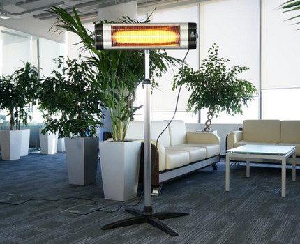 Floor quartz infrared heater