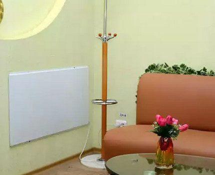Quartz heater in the interior