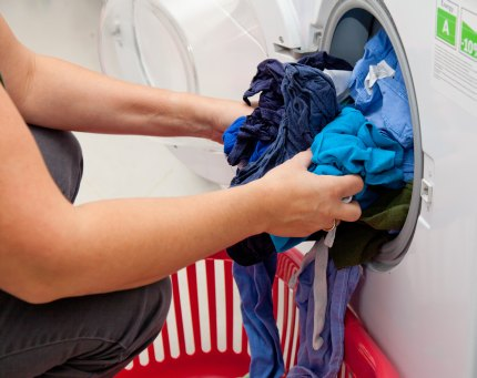 Pulling laundry after washing