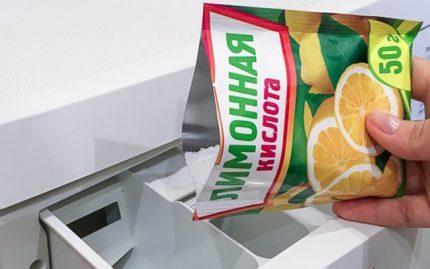 Nettoyage à l'acide citrique