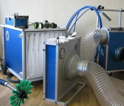Selection of cleaning equipment
