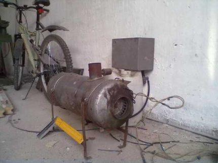 Self assembly diesel heat gun