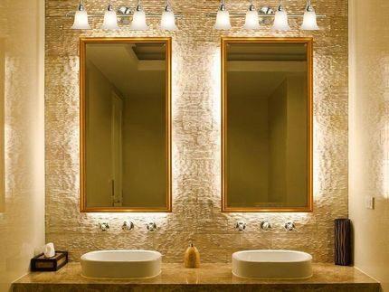 Éclairage miroir