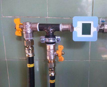 Installation de robinets à gaz